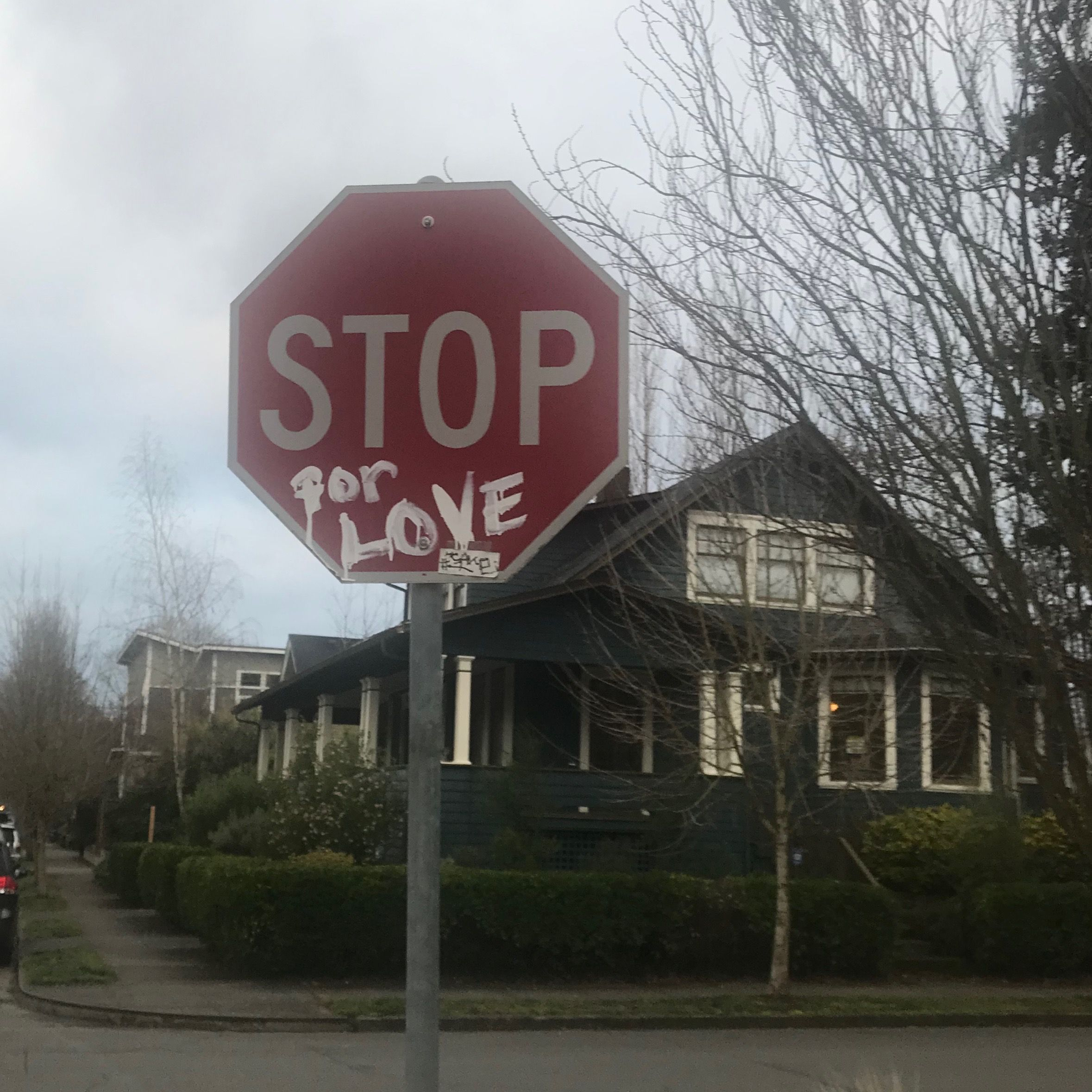 Stop for love, found on a run through NE Portland last week